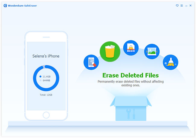 Erase all deleted files on iPhone